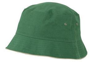 Klobouček dětský, Green/ Beige