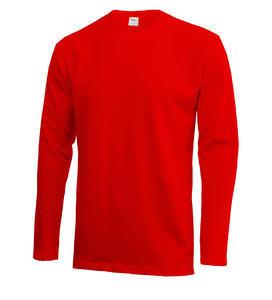 Tričko pánské dlouhý rukáv AKCE, red | XXL