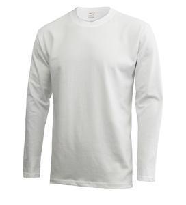 Tričko pánské dlouhý rukáv, white |3XL