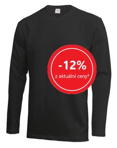 Tričko pánské dlouhý rukáv AKCE, black | 3XL