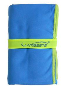 Ručník sportovní 70x140cm, light blue / neon yellow