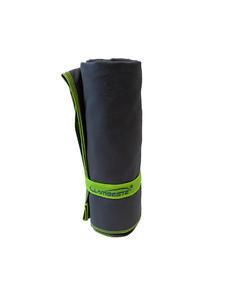 Ručník sportovní 70x140cm, grey / neon yellow - 1