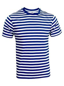 Tričko pánské pruhy vodácké/ námořnické, pruhy navy/ white | S - 1