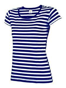 Tričko dámské pruhy, pruhy navy/white | L - 1