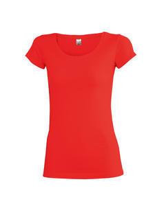 Tričko dámské krátký rukáv, red | XXL