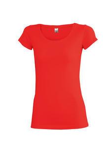 Tričko dámské krátký rukáv, red | S