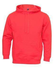 Mikina pánská s kapucí, red   XL