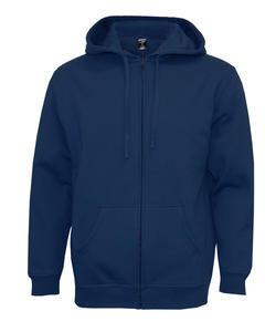 Mikina pánská s kapucí na zip, navy | XL