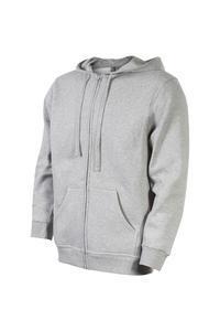 Mikina pánská s kapucí na zip, melange | S