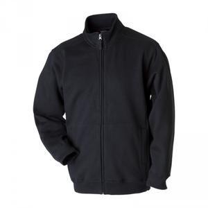 Mikina pánská na zip, black   M
