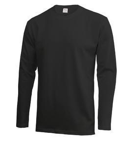 Tričko pánské dlouhý rukáv, black | XXL