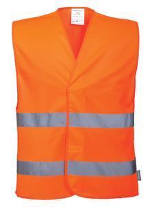 Reflexní vesta s 2 pruhy, orange | 2XL/3XL
