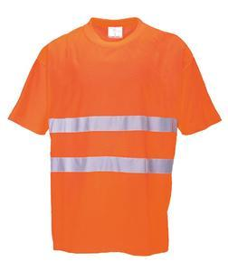 Tričko hivis bavlna comfort, orange | 4XL - 1