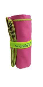 Ručník sportovní 70x140cm, orchid/ neon  yellow - 1