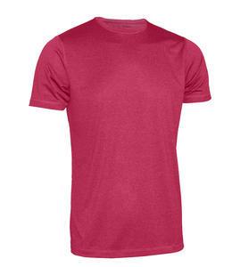 Tričko pánské funkční, red melange | S