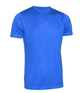 Tričko pánské funkční, blue melange | XL