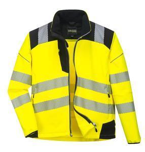 Softshellová bunda pracovní hivis, yellow/black | XXL - 1