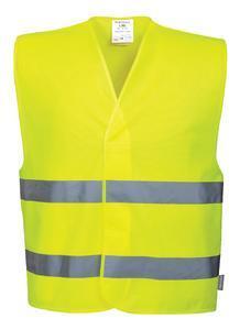 Reflexní vesta s 2 pruhy, yellow | L/XL - 1