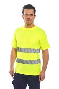 Tričko HiVis bavlna Comfort, yellow | S - 1