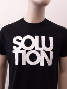 Tričko pánské s nápisem / více druhů, black SOLUTION | XXL - 2