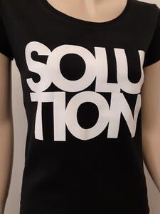 Tričko dámské s nápisem / více druhů, black SOLUTION | XL - 2