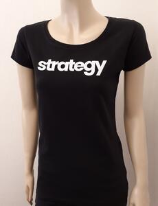 Tričko dámské s nápisem / více druhů, black STRATEGY | L - 2