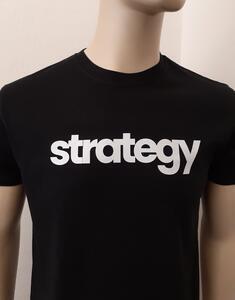 Tričko pánské s nápisem / více druhů, black STRATEGY | XL - 2
