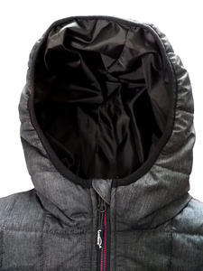 Bunda dámská combi pletený fleece, anthracite-melange/ red-melange | M - 2