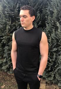 Tričko pánské bez rukávů, black | XL - 2