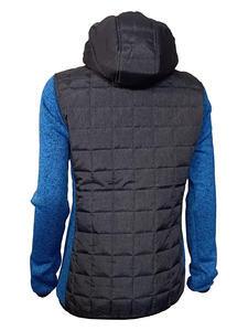 Bunda dámská combi pletený fleece, anthracite-melange/ blue-melange | XL - 2