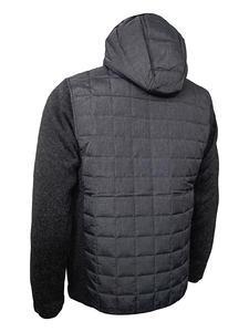 Bunda pánská combi pletený fleece, anthracite-melange/ black-melange | 3XL - 2