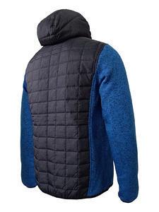 Bunda pánská combi pletený fleece, anthracite-melange/ blue-melange | 3XL - 2