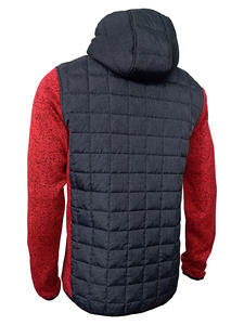 Bunda pánská combi pletený fleece, anthracite-melange/ red-melange | XL - 2