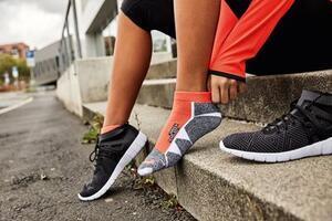 Ponožky Sport Sneakers, bright-orange | 39-41 - 2