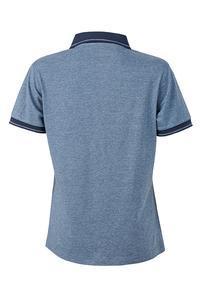 Polokošile dámská single jersey melír, blue melange/ navy | XXL - 2