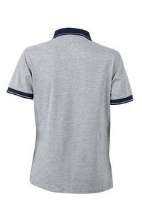 Polokošile dámská single jersey melír, grey heather/ navy | XL - 2