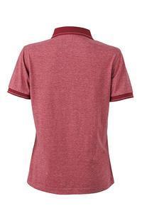 Polokošile dámská single jersey melír, wine melange/ wine | XL - 2