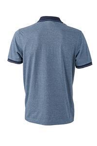Polokošile pánská single jersey melír, blue melange/ navy | 3XL - 2
