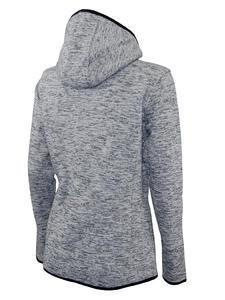 Mikina dámská s kapucí pletený fleece, light-melange | XXL - 2