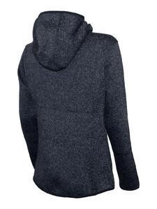 Mikina dámská s kapucí pletený fleece, black-melange | M - 2