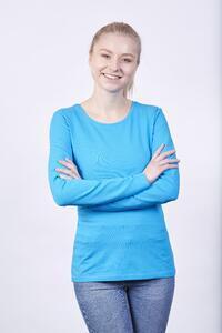 Tričko dámské dlouhý rukáv, atolblue | M - 2