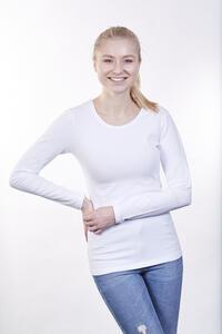 Tričko dámské dlouhý rukáv, white | S - 2