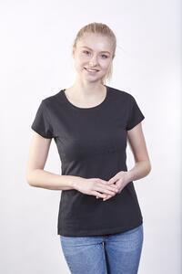 Tričko dámské krátký rukáv, black | M - 2