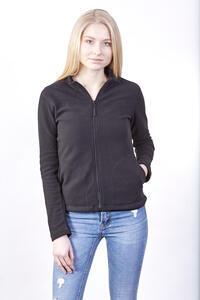 Mikina dámská fleece, kapsy, black | M - 2