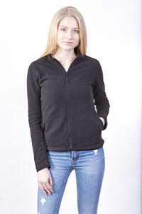 Mikina dámská fleece, kapsy, black | XL - 2