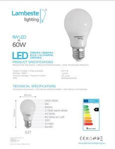 LED E27  9W Teplá - 2