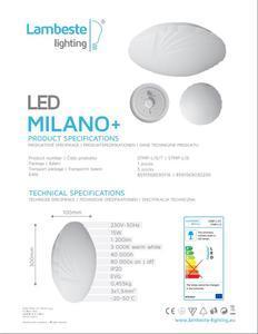 LED MILANO+ 15W stropní svítidlo teplá, MILANO+ 15W - 2