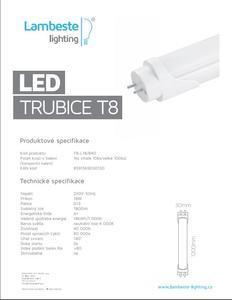 LED T8  18W,  T8-L18 - 2
