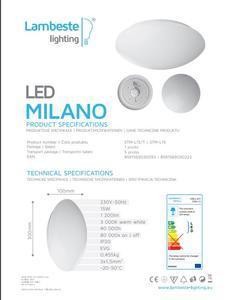 LED MILANO 15W stropní svítidlo teplá - 2