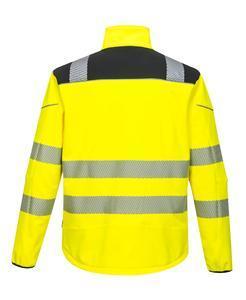 Softshellová bunda pracovní hivis, yellow/black | XXL - 2